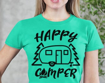 Happy Camper - RV Family Camping Short-Sleeve T-Shirt