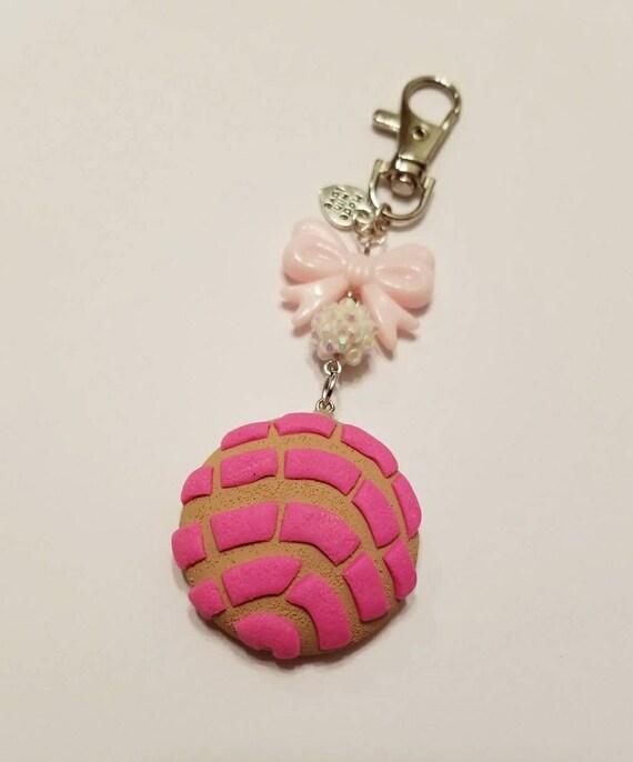 Polymor Clay Pink Concha Pan Dulce Keychain Pan Dulce Bad Etsy
