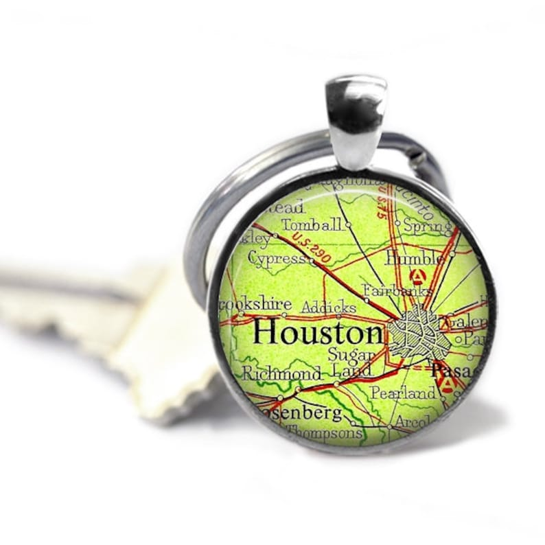 Houston map keychain, vintage Houston map, Humble, Sugarland Texas on map of bayou vista texas, map of clovis texas, map of monterey texas, map of carmine texas, map of southwest austin texas, map of fair oaks ranch texas, map of uptown houston texas, map of cedar bayou texas, map of bell texas, map of east bernard texas, map of harrisburg texas, map of pflugerville texas, map of east houston texas, map of arcola texas, map of iowa colony texas, map of bakersfield texas, map of sanderson texas, map of prairie view texas, map of the woodlands texas, map of agua dulce texas,