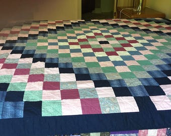 Double Bed Quilt - Trip Around The World