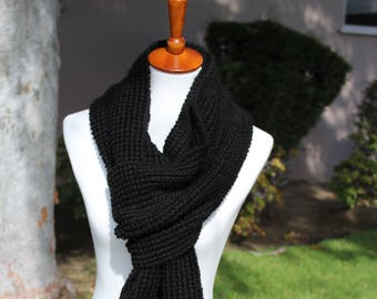 Long Knitted Scarf, Oversized Scarf