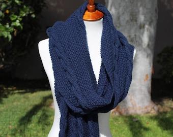 Long Chunky Knit Scarf