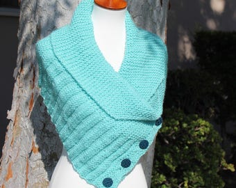 Scarf with Buttons, Infinity Scarf with Buttons