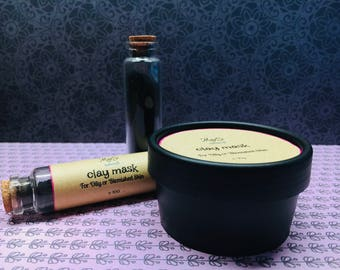face mask & scrub for oily or belmished skin
