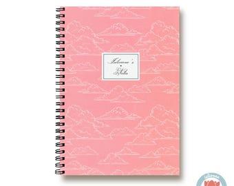 Bullet Journal Notebook Journal Sketchbook - Romantic Pink Clouds - Dotted Lined Blank - Custom Notebook - Custom 1N
