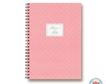 Bullet Journal Notebook Journal Sketchbook - Romantic Pink Cute Mini Flowers - Dotted Lined Blank - Custom Notebook - Custom 1N