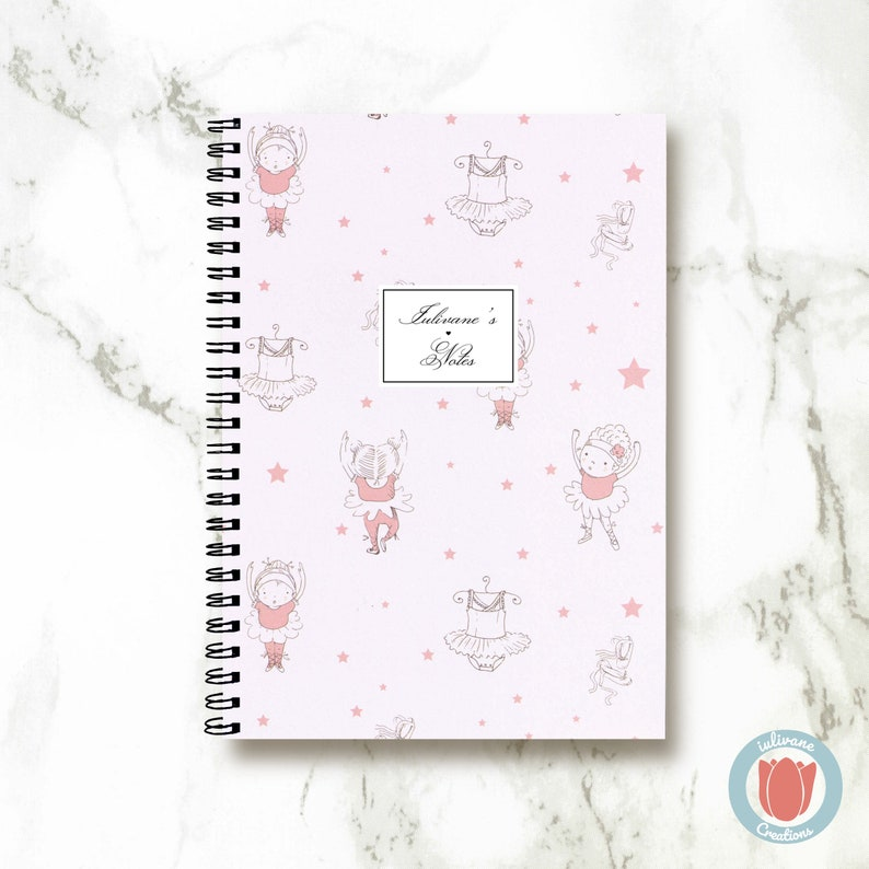 Bullet Journal Notebook - Pink Ballet Tutu - Bullet Journal Notebook  Journal Sketchbook Spiral Notebook Schrift Recipe Book School Gift
