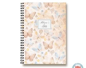 Bullet Journal Notebook Journal Sketchbook - Romantic Butterflies - Dotted Lined Blank - Custom Notebook - Custom 1N
