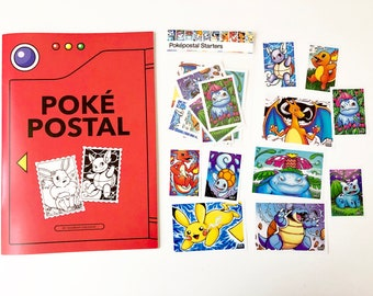 Poképostal colouring book / zine - inktober 2020 - 36 pages A5