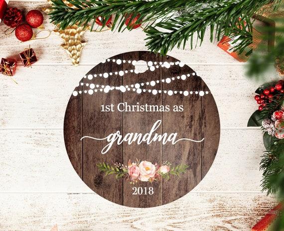 image 0 - Grandma Christmas Ornament-First Christmas As A Grandma Etsy