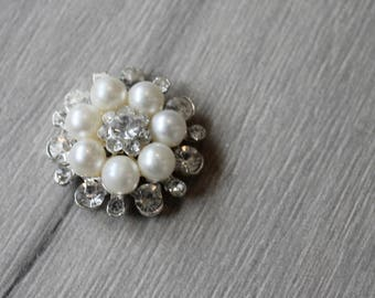Large vintage brooch  Can be used for brooch bouquet or cake
