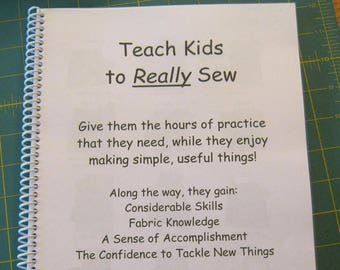 Teach Kids to REALLY Sew (free shipping)