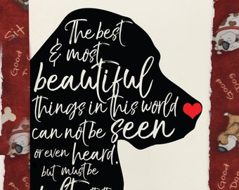 Felt With The Heart - Dog Lover's Pet Loss and Sympathy Cards