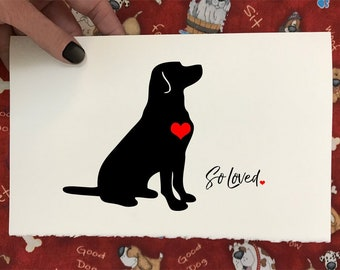 So Loved. So Missed.- Dog Lover's Pet Loss and Sympathy Cards