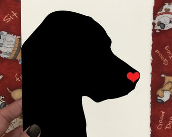 Dog Silhouette - Felt With The Heart - Dog Lover's Pet Loss and Sympathy Cards