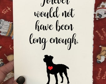 JACK RUSSEL - Forever Would Not Have Been Long Enough - Dog Loss and Sympathy Cards