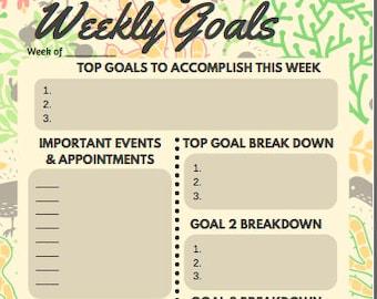 Weekly Planner Sheets - Tan - Digital Download