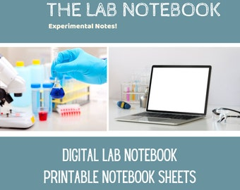 Printable Lab Notebook Sheets for Science Experiments