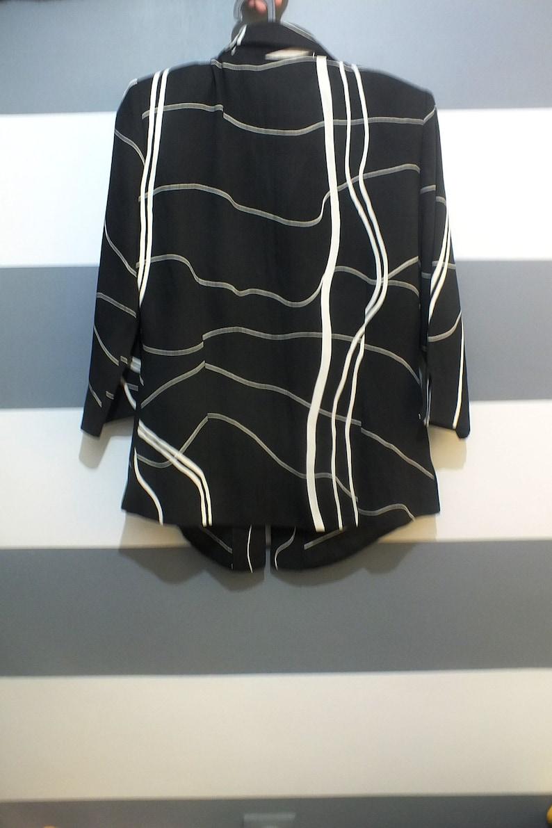 French vintage Vintage Blouse Infiniment Belle Paris black white shirt Vintage shirt 90s blouse