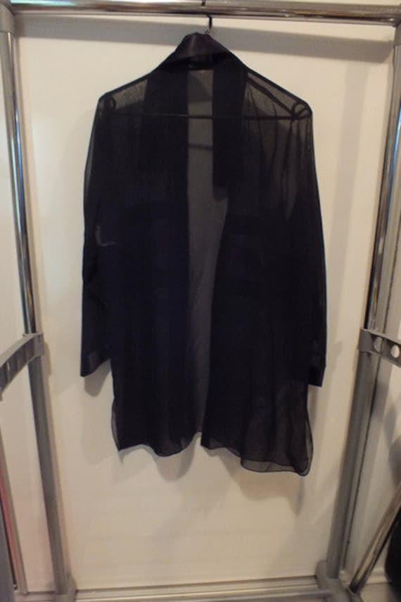 Transparent blouse, 80s blouse, Black transparent… - image 5