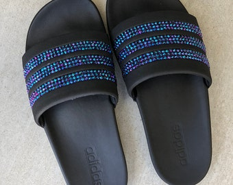 f52b725c2a64 Adidas® Adilette slides w  Swarovski® Crystals - Various colors available