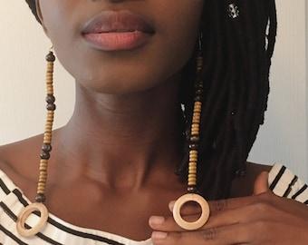 Soso earrings, wood earrings