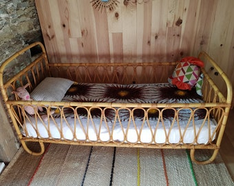 Rattan Bed Etsy