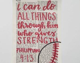Philippians 4:13 Sports Print