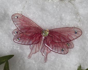 Poetry - fairy wing necklace - choose colors