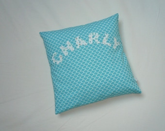 Custom cushion with name, 35x35cm, cotton lining