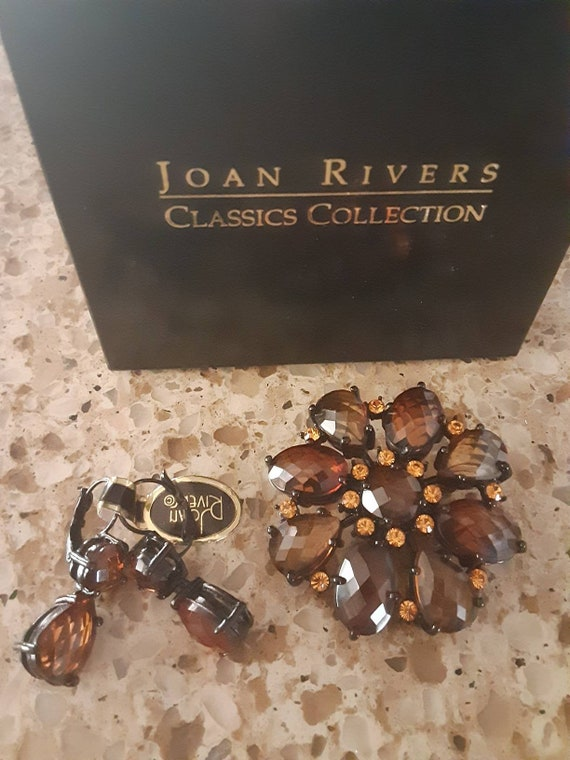New Joan Rivers fall brooch and matching earrings
