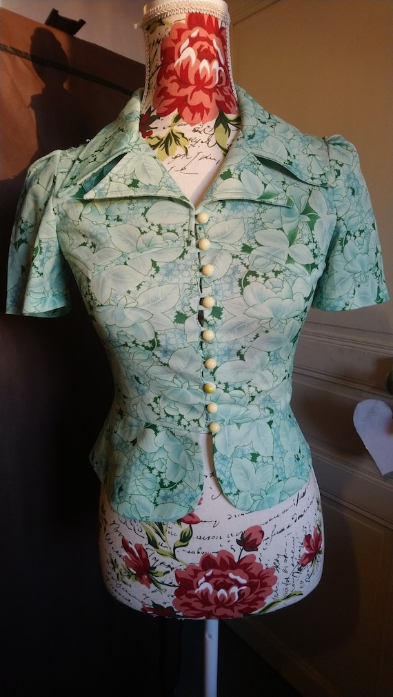 Vintage 1970s does 1930s blouse
