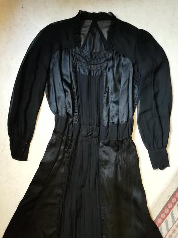 Vintage 1930S silk dress XS S