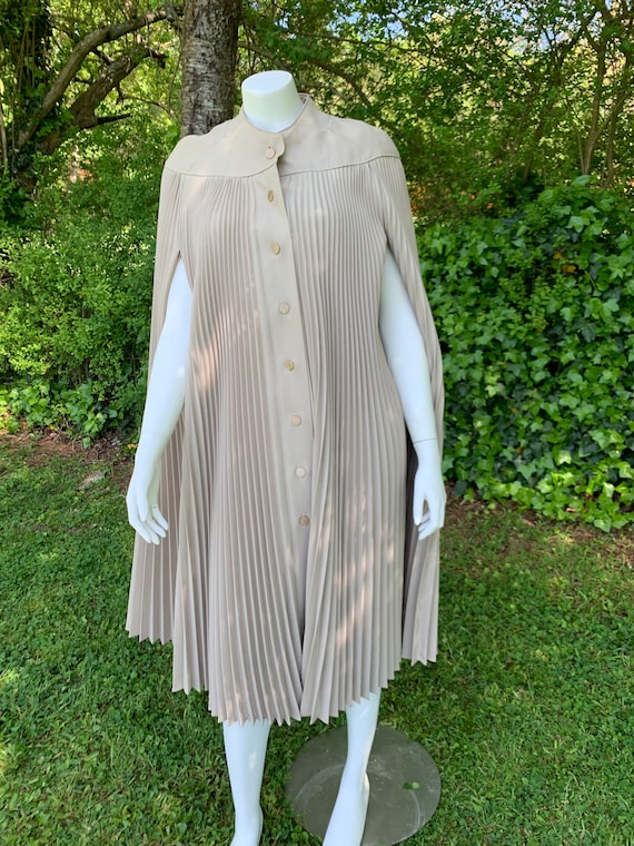 Incredible Pleated Taupe Cape