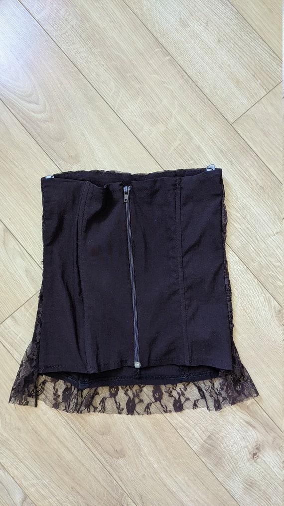 Brown Lace Corset Tube Top Vintage Y2K Costa Blan… - image 4