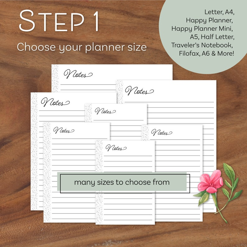 Dot Grid Paper Printable Notes Page Happy Planner Inserts ...