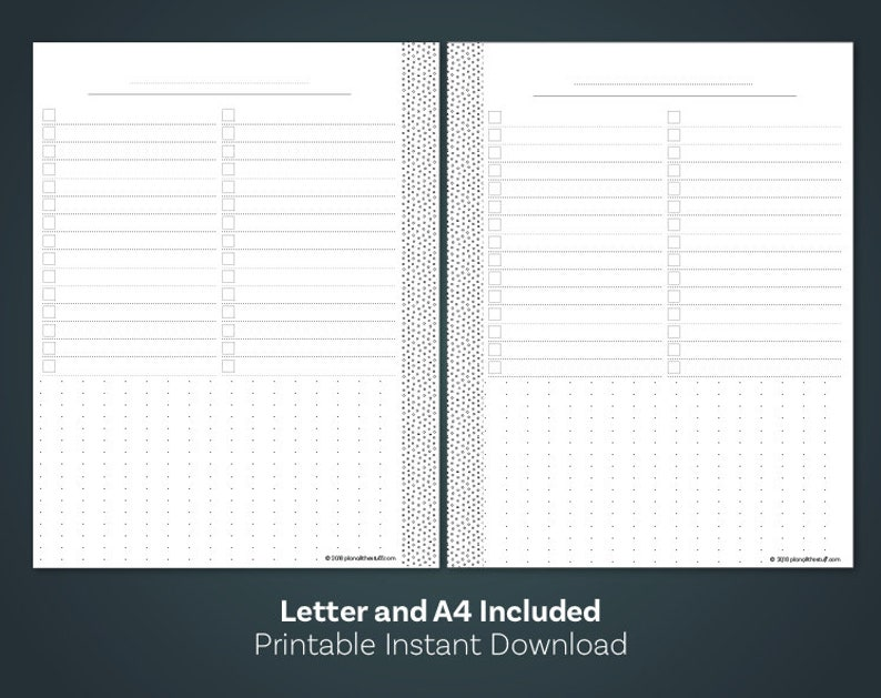 photograph about Dot Grid Paper Printable known as List Printable, Dot Grid Paper Printable, Be aware Paper Printable, Lower Planner Inserts, A4 Planner Inserts, Letter Dimensions Planner Include
