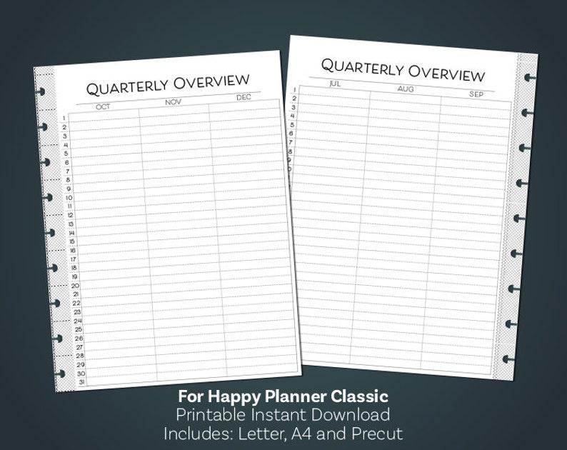 image regarding Printable Quarterly Calendar identify Quarterly Planner, Quarterly Calendar, Clic Content Planner Include, Joyful Planner Printable, Minimalist, Printable Planner Inserts
