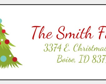christmas address labels etsy