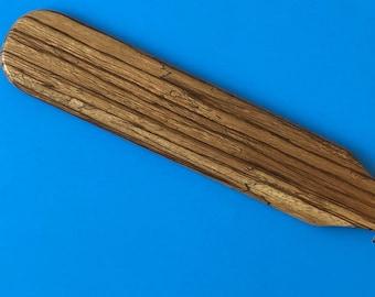 Exotic Zebra Wood Frat Style Spanking Paddle