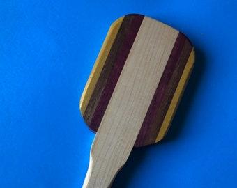 Exotic Multiwood Hairbrush Style paddle