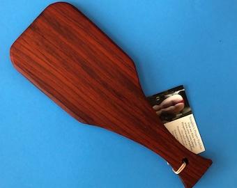Exotic Padauk Wood OTK Spanking Paddle