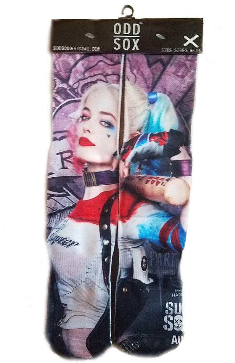 9972e6ce62bb67 Unisex Crew Socks DC Comics Harley Quinn Suicide Squad Psycho
