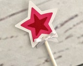 12, 18, 24 or 30 American Girl Cupcake Toppers, Party Cupcake Toppers, American Birthday Party, Star Cupcake Toppers Mini Cupcake Toppers