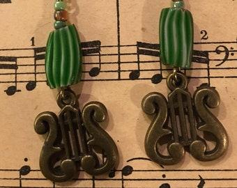 Lyre Earrings