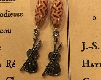 Violin Earrings