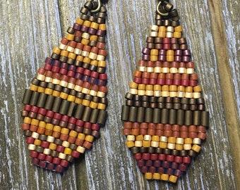 Woodstock Beaded Drop Earrings