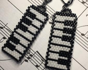 Piano Keyboard Earrings