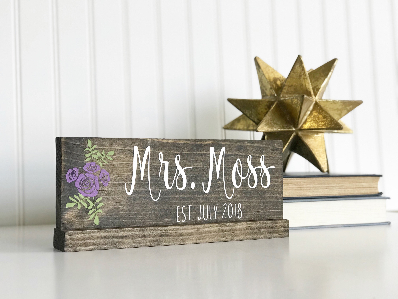 Decorative Name Plates For Home: Personalized Desk Name Plate I Office DecorI Home Decor I