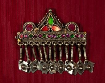 Barrette Vintage Kuchi Hair clip, hair decoration tribal gypsy style